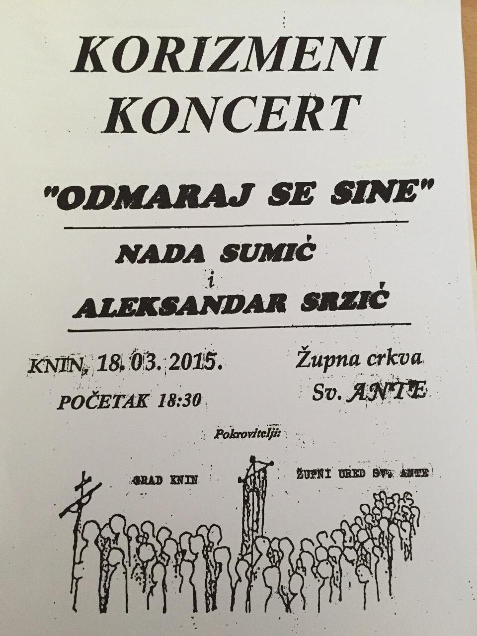 U srijedu korizmeni koncert