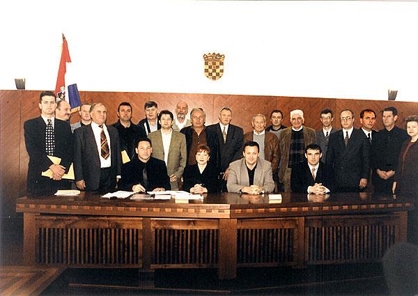 POPIS VIJEĆNIKA GRADSKOG VIJEĆA U MANDATU 1997. - 2001.<br>