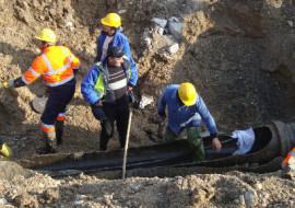 Sanacija puknuća vodovodne cijevi u Gajevoj ulici