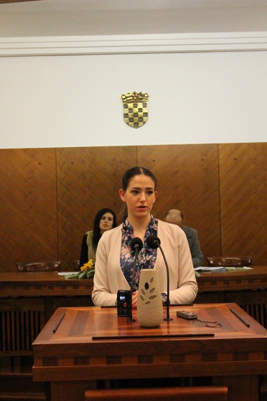 Barbara Alilović predsjednica Savjeta mladih Grada Knina