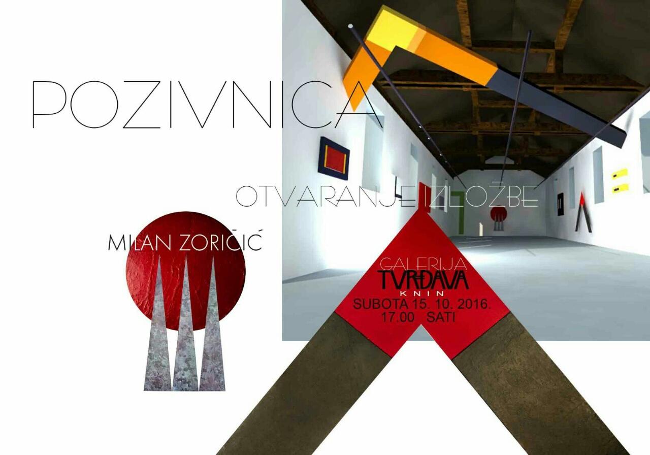 U Galeriji Kninskog muzeja otvorena je izložba radova poznatog kninskog umjetnika Milana Zoričića