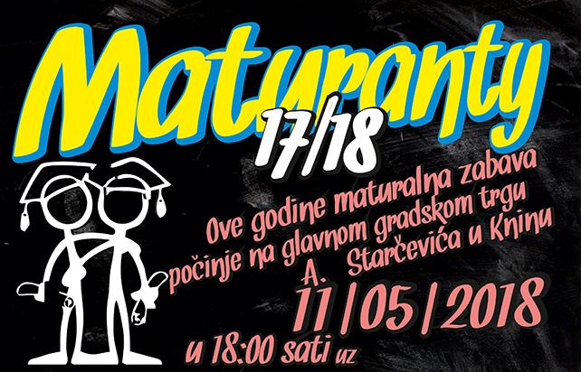 Maturanty 17/18 – objavljeni detalji za ovogodišnju maturalnu večer