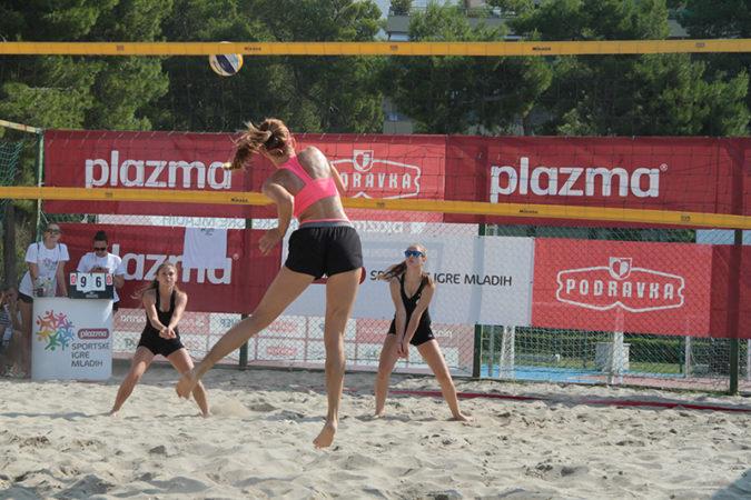 Prvaci Hrvatske u odbojci na pijesku Plazma Sportskih igara mladih
